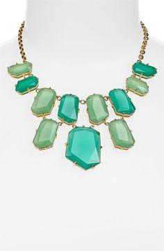 kate spade new york colored stone bib necklace