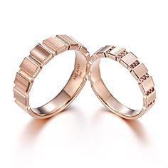 ◇ MILANOGEM ◇ Wedding Ring Bands, Wedding Jewelry, Gold Jewelry, Wedding Set, Jewellery, Couple Bands, Beautiful Wedding Rings, Band Rings, Jewelry Design