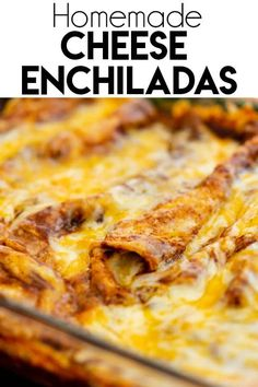 Enchiladas Discover Cheese Enchiladas - The Salty Marshmallow These Cheese Enchiladas are filled with creamy cheese and topped with a homemade red enchilada sauce-- a perfectly cheesy meal! Mexican Enchiladas, Homemade Enchiladas, Beef Enchiladas, Easy Cheese Enchiladas, Sauce Enchilada, Enchilada Recipes, Mexican Cheese Enchilada Recipe, Cheese Enchilada Casserole, Homemade Enchilada Sauce