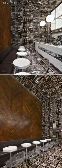 Awesome bookshelf Cafe