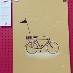 Love the simplicity of this bike print