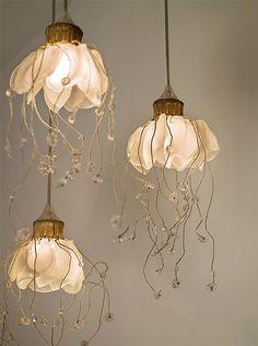 suspended flower lights