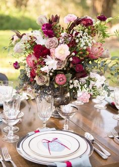 Photographer: Christa Elyce Photography; Wedding reception centerpiece idea;