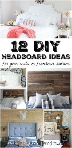 12 DIY headboard ideas for your rustic or farmhouse bedroom on DuctTapeAndDenim.com