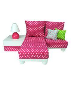 Pink Doll Furniture Set for 18'' Doll #zulily #zulilyfinds