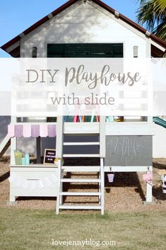 Operation Clubhouse {DIY Playhouse with Slide}