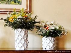 Vaso decorado com papel