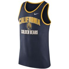 REPRESENT YOUR TEAM The Nike College Team (UC Berkeley) Men's Tank Top pays homage to your favorite school with a team print on soft, comfortable cotton. Product Details Rib scoop neck and wide armholes Fabric: cotton Machine wash Imported Nike Mens Shirts, Men's Shirts, California Golden Bears, Tank Man, Mens Fashion, Tank Tops, Men's Clothing, Gears, Scoop Neck