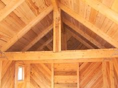log cabin wood siding | Rustic Post & Beam interior cabin with rough sawn paneling