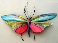Insecto de metal mariposa