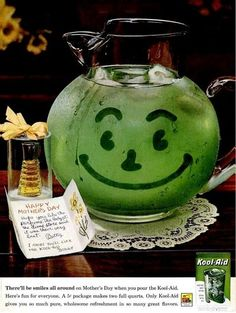 Kool-Aid  might actually be able to claim the first smiley face...