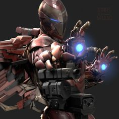 """""""Invincible"""" Iron Man Armor Design Is Loaded With Firepower"""