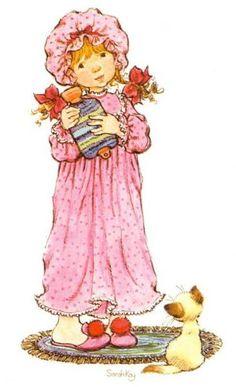 Sarah Kay album Decje novine Jugoslavija (n. Sarah Key, Holly Hobbie, Vintage Cards, Vintage Images, Vintage Pictures, Mary May, Sweet Pic, Australian Artists, Cartoon Kids