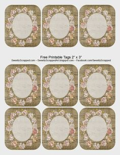 Free Printable Rose Tags
