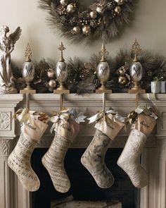 French Laundry Christmas Stockings