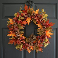 Hydrangea Wreath for Front Door A gorgeous Hand Blended Hydrangea Fall Wreath, another original from HHGDECOR. Handmade with artificial hydrangea flowers in orange, brown, burgundy, and olive green. Diy Fall Wreath, Fall Wreaths, Autumn Wreaths For Front Door, Floral Wreaths, Burlap Wreaths, Summer Wreath, Mesh Wreaths, Wreath Ideas, Thanksgiving Wreaths