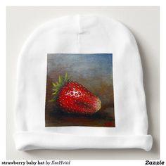 strawberry baby hat