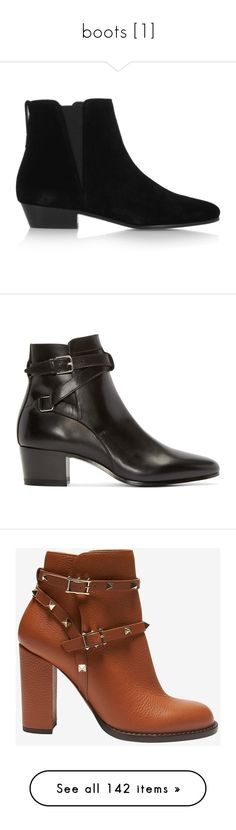 """boots [1]"" by demiwitch-of-mischief ❤ liked on Polyvore featuring shoes, boots, ankle booties, black, suede ankle boots, black booties, ankle boots, suede booties, black bootie and botas"
