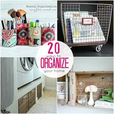 Great Ideas — 20 Projects to Organize Your Home! Summer is a great time to tackle those organizing projects! Get the kids involved. ☀CQ #organize #DIY