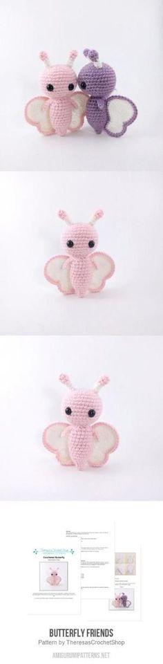 Butterfly Friends Amigurumi Pattern by mamie