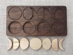 Moon Phases Puzzle — Solid Hardwood Waldorf Montessori Toy — From Jennifer Moon Phases Puzzle Solid Hardwood Waldorf by FromJennifer on Etsy Waldorf Montessori, Diy Montessori Toys, Diy Waldorf Toys, Woodworking Toys, Woodworking Patterns, Woodworking Classes, Woodworking Projects, Homemade Toys, Wood Toys