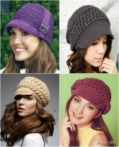 Hats And Free Patterns For Crochet http://www.topinspired.com/top-10-fashionable-diy-hats-and-caps-free-crocheting-patterns/
