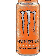 Pack Of 24 Monster Energy Drink Ultra Sunrise Sugar Free Citrus & Orange 16 Oz. Monster Flavors, Mopar, Beverage Packaging, Indie Kids, Product Label, Doritos, Sunrise, Canning, Orange