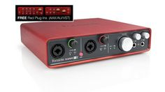 Focusrite Scarlett 6i6 USB 2.0 Audio Interface: With two Focusrite mic preamps, a stereo line input, MIDI I/O, S/PDIF I/O and two headphone outputs, this USB audio interface is perfect for project studios.