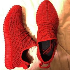 Red Adidas Yeezy's ❌