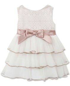 Rare Editions Little Girl's Ivory Lace Tiered Dress