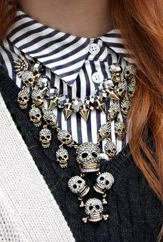 skulls and collars.... perfect