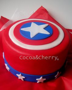 Captain America Cake - Carter's party