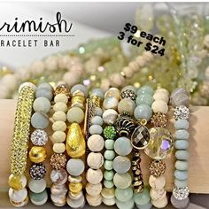 New Arrival of #erimish #bracelet bar. These are a must see in person. Perfect for adding that special touch. #apricotlaneaugusta #armcandy
