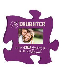 Loving this 'Daughter' Puzzle Piece Frame on #zulily! #zulilyfinds