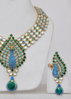 peacock jewelry | Peacock Kundan jewelry Set