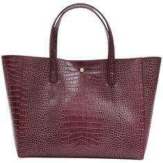Reiss Louie Tote Bag ($260) ❤ liked on Polyvore featuring bags, handbags, tote bags, burgundy, leather tote purse, handbags totes, handbags purses, leather tote handbags and hand bags
