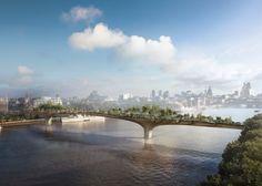 Heatherwick's Garden Bridge in London.