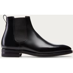 Bally SCAVONE Men's leather Chelsea boot in Black (8.110 NOK) ❤ liked on…