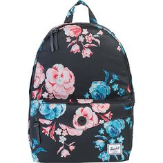 Herschel Sydney Backpack - Pastel Petals - School Backpacks ($55) ❤ liked on Polyvore featuring bags, backpacks, accessories, pink, herschel supply co backpack, pastel pink backpack, knapsack bag, herschel supply co bag and zip bag