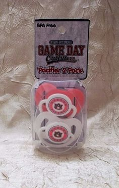 Auburn University 2 Infant Pacifiers Auburn Tigers Logo Game Day Outfitters NCAA #GameDayOutfitters #AuburnTigers