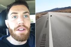 This Guy Was Driving Along A Deserted Highway When He Spotted Two Dark Shapes Up Ahead
