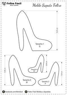 Sapato em feltro, choes felt, woman felt, molde de sapato em feltro