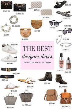The Best Designer Dupes - Jade Govel Karen Walker, Valentino Garavani, Real Style, My Style, Classic Style, Celine, Hermes Oran Sandals, Louis Vuitton Clemence Wallet, Off White Designer