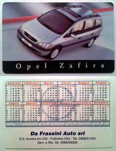 Calendarietto pubblicitario 2000 - Opel Zafira