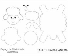 Mãe & Filha Artesanatos: Tapete de Caneca/Xícara_moldes variados