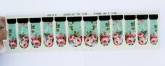 roses nail wraps 3 sets of water transfer nail by GlamourFavor