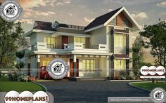 Drawing with Double Story Traditional Home Design CollectionIndian Style Low Cost House Map Drawing with Floor Plans By leading Engineers & Architects Best Modern House Design, Cool House Designs, Modern Design, Home Design Images, House Design Pictures, Low Cost Housing, Indian Home Design, 4 Bedroom House Plans, Style Simple