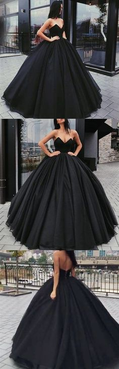 Black Prom Dress, Sweetheart Long Prom Dress, Ball Gown Evening Dress 17288 sold by FancyGown. Shop more products from FancyGown on Storenvy, the home of independent small businesses all over the world.