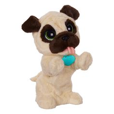 This sweet, soft JJ, My Jumpin' Pug plush pet is so excited to play with you! When you pet your new little buddy's head or wave at him, he'll jump up and bark just like an excitable little pup! If you pet his back, he'll sit like a good boy. Your JJ, My Jumpin' Pug toy will always be ready for fun, and he'll always be as bouncy as can be when you come around!<br>WARNING: CHOKING HAZARD - Small parts will be generated. Not for children under 3 years.<br>Age...