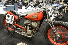 Vintage Indian Motorcycle as seen at the Indianapolis Motorcycle Show and the Dealer Expo in February 2013